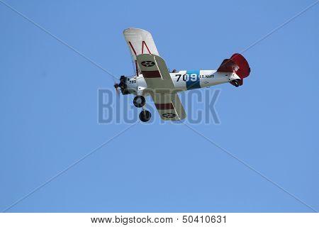 U.s. Navy Stearman Bi-plane
