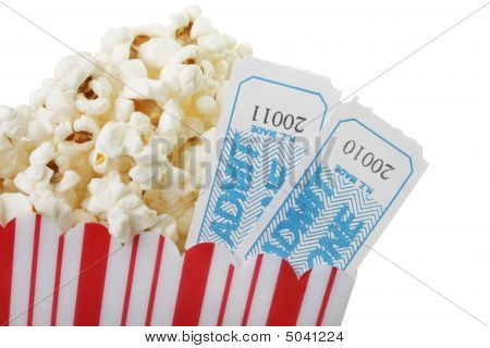 Popcorn And Tickets.