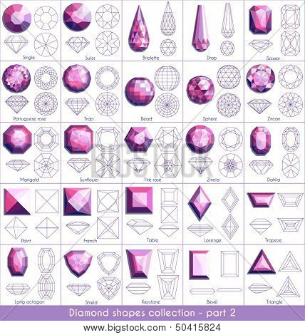 Diamond shapes collection - part 2 (eps10)