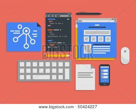 Programming And Web Development Process Illustration