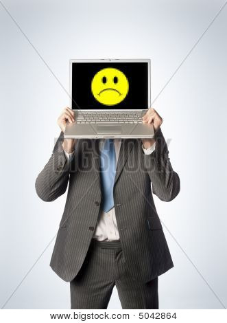Sad Male Laptop