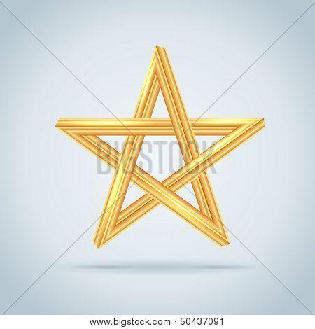 Gold Inconceivable Pentagram.