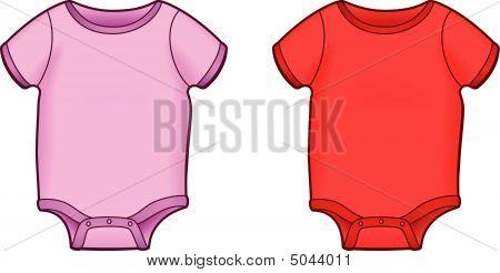 Pink Or Red Baby Onsie