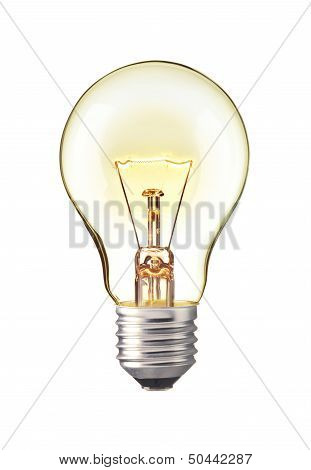 Turn on tungsten light bulb, Realistic photo image