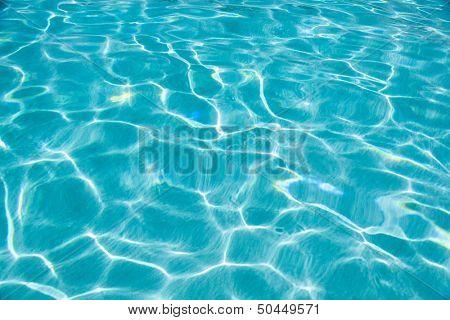 blue sea water caustics