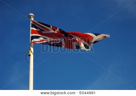 Fluttering Union Flag