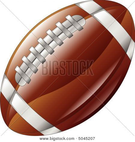 Shiny Glossy American Football Ball Icon