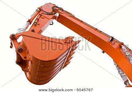 Orange Clear Excavator Bucket Beam