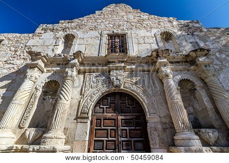Unusual Perspective of the Historic Alamo, San Antonio, Texas.