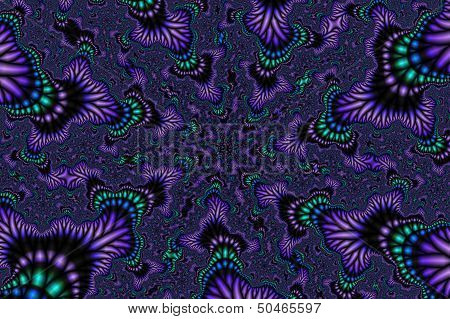 Fractal fairytale - purple perspective.