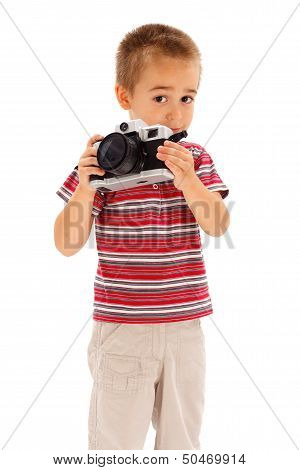 Little Boy Taking Photos
