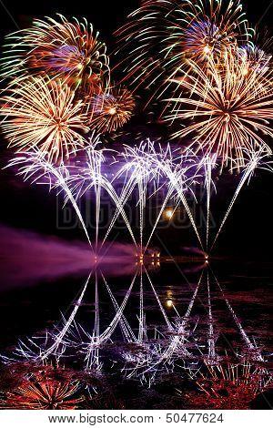 Streaks Of Blue Fireworks
