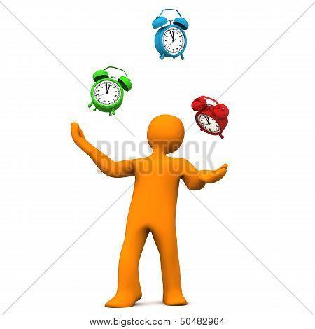 Manikin Juggling Alarmer,