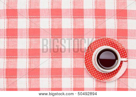 Coffee On The Table Cloth