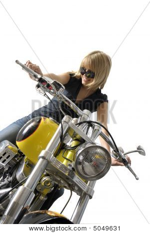 Beauty On Motorcycle