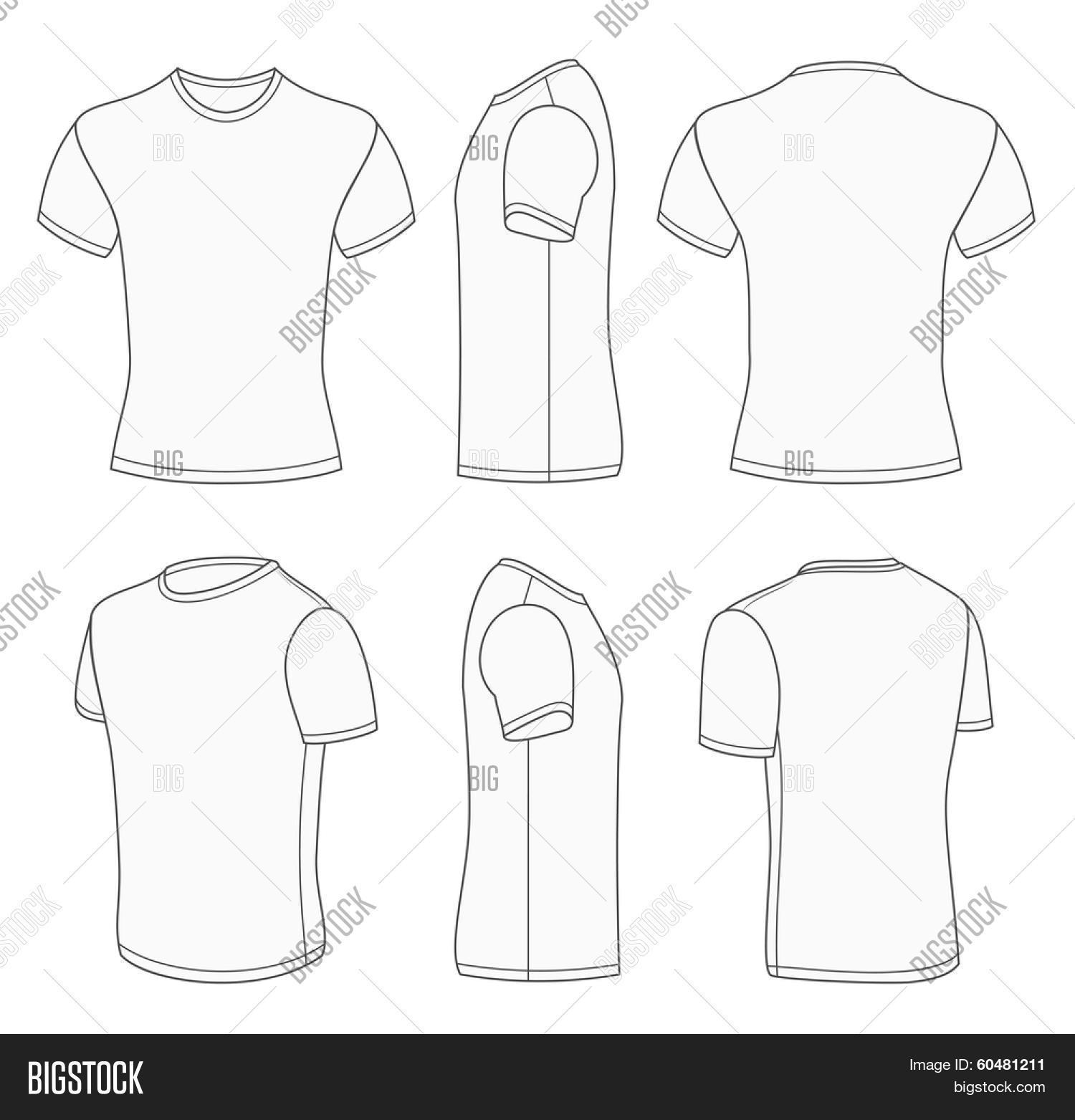 33da79a32 All views men's white short sleeve t-shirt design templates (front, back,