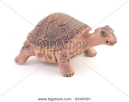 Clay Turtle Figurine