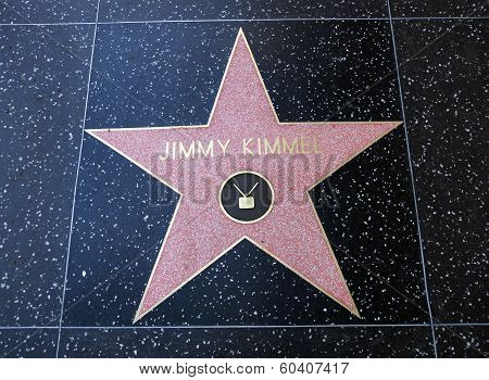 Jimmy Kimmel Star On Hollywood Walk Of Fame
