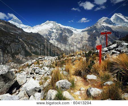 Huascaran Peak (6768m) in Cordiliera Blanca, Peru, South America poster