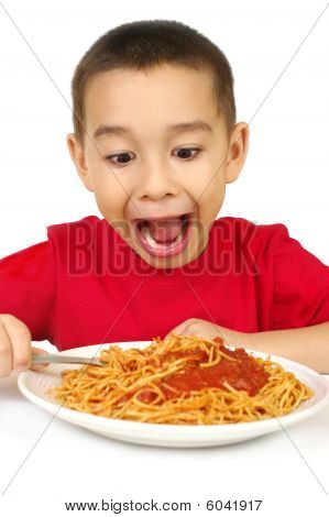 Kid And Spaghetti