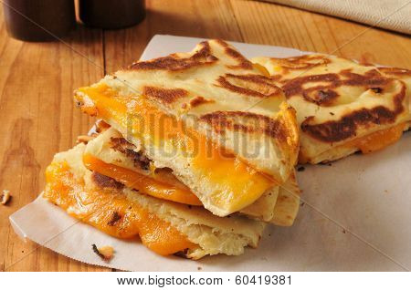 Grilled Cheese Sandwich On Naan Bread