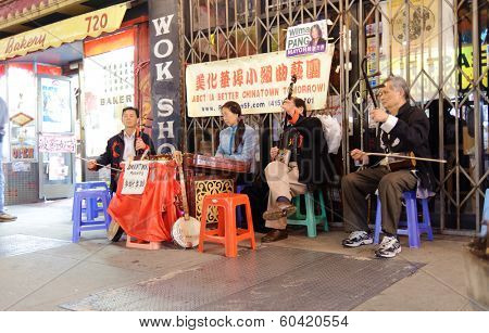 SAN FRANCISCO,USA - OCT 07,2011: Chinatown in San Francisco in San Francisco, CA. The Chinatown, centered on Grant Avenue and Stockton Street in San Francisco, California.