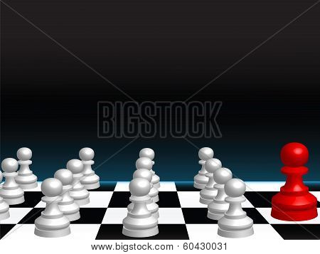 Abstract Background With Chess Pieces