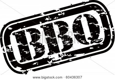 Grunge BBQ rubber stamp,vector illustration
