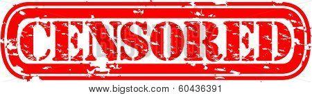 Censored grunge rubber stamp, vector illustration