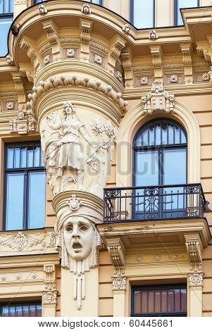 The Building In Art Nouveau Style, Riga
