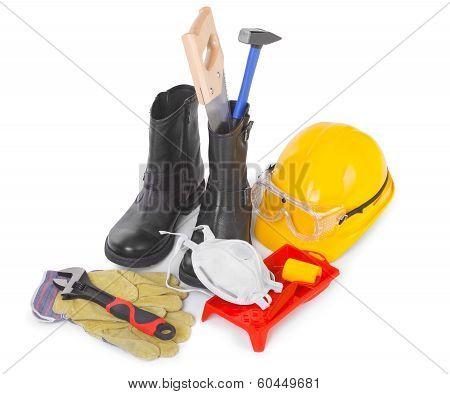 Repair Accessories On White
