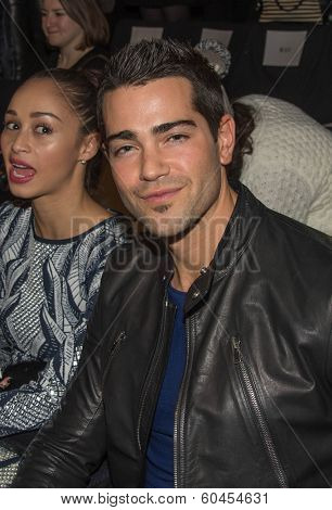 NEW YORK-FEB 8: Actor Jesse Metcalfe attends the Herve Leger by Max Azria fashion show during Mercedes-Benz Fashion Week Fall 2014 at Lincoln Center on February 8, 2014 in New York City.