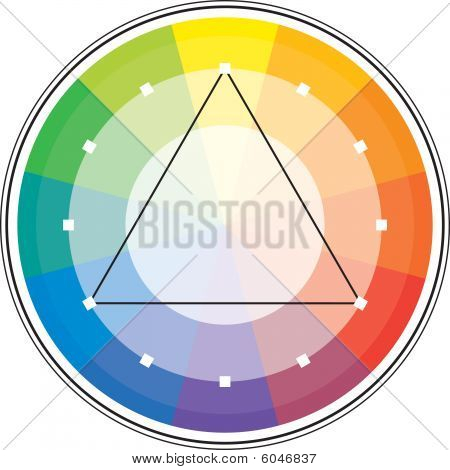 Multicolor spectral circle from 12 segments and its triangle scheme. poster