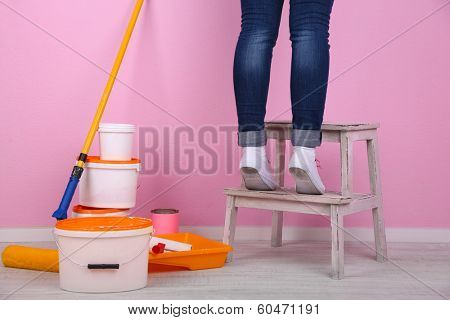 Conceptual photo of repairing works in room