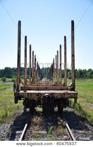 Train Lumber Car