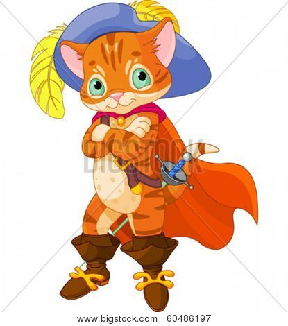 Puss in boots. Cartoon character