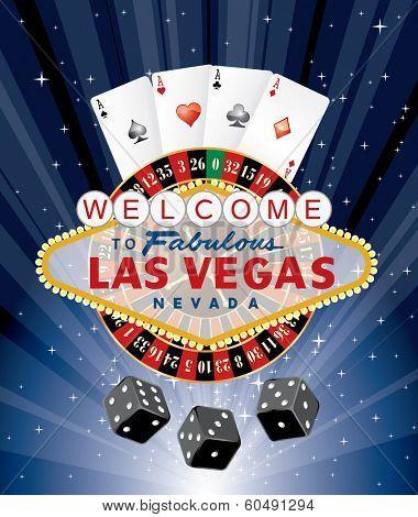 las vegas gambling, vector illustration