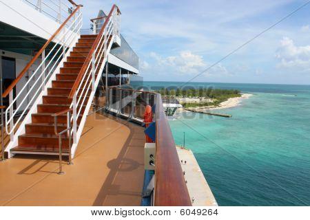 Tropical Ship And Beach