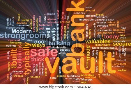 Bank Vault Word Cloud Box Package