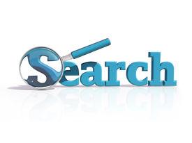 Blue 3D Search Icon