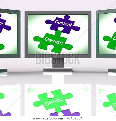 Content Design Puzzle Screen Shows Promotional Material And Layout