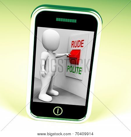 poster of Rude Polite Switch Meaning Good Bad Manners