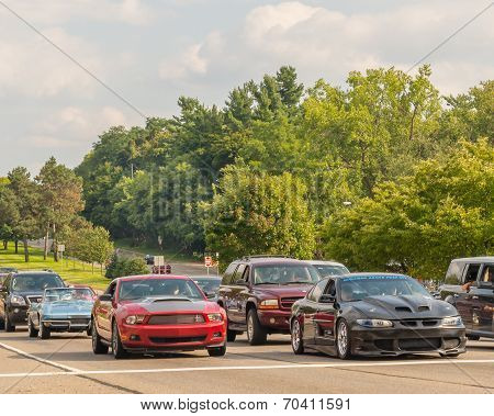 Corvette, Mustang And Grand Prix, Woodward Dream Cruise