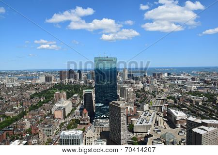Aerial View of Boston, Massachusetts.