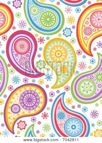 Multicolored Paisley Seamless