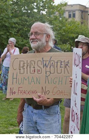 Moral Monday Clean Water, No Fracking Or Coal Sign