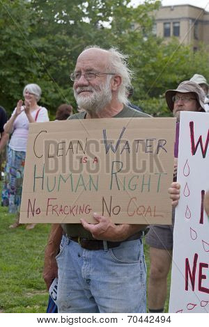 Clean Water, No Fracking, No Coal Protest