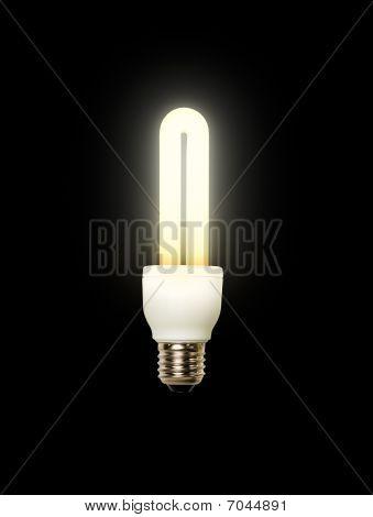 Energy saving lamp black background