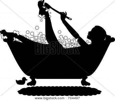 Bubble Bath Silhouette