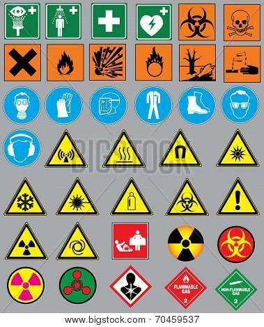 38 safety warnings and label signs
